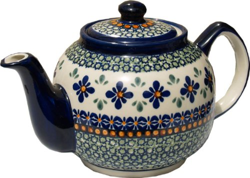 polish pottery teapot